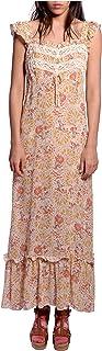 Anna Sui Women'S Coral Firework Garden Dress