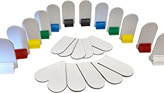 Game Board Markers - 12 Stands Plus 24 White Die Cut Cards - Board Game Card Stand -DIY Game Board Pieces - Yardware etcetera