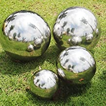 80mm /& 100mm FLAMEER Set of 2 Stainless Steel Hollow Gazing Ball