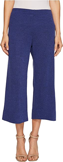 Nally & Millie - Cropped Pull-On Wide Leg French Terry Pants
