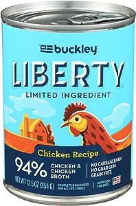 BUCKLEY PET Liberty Chicken Recipe Dog Food, 12.5 OZ