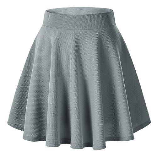 de07fdfcc Urban GoCo Falda Mujer Elástica Plisada Básica Patinador Multifuncional  Corto Falda