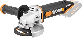 Worx WX800.9 Amoladora angular Radial 115mm 20V, 8600RPM, 1 disco de corte metal, 20 V