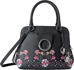 Calvin Klein - Reese Floral Printed Saffiano Satchel
