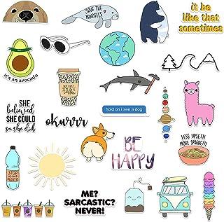 (25 Pack) Vinyl Laptop Stickers for Water Bottles - Cute Hydro Flask Stickers - Water Bottle Sticker Pack - Cool Waterproo...