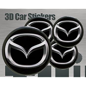 Think Ink Adesivi 3D Stickers 4 Pezzi Logo Dacia Imitazione Tutte Le Dimensioni Centro cap Wheel Coprimozzo 60 mm