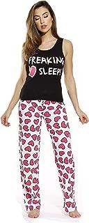100% Cotton Women Pajama Ribbed Tank & Jersey Pant Sets