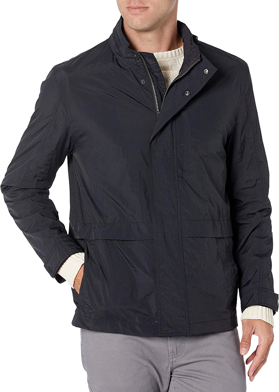 Cole Haan Men's New mail order Grand Series Jacket Packable Crinkle Max 77% OFF Rain