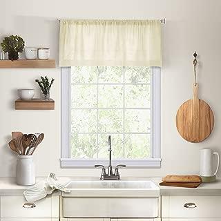 Elrene Home Fashions 26865775426 Solid Hemstitched Rod Pocket Valance Kitchen/Café Window Curtain, 60