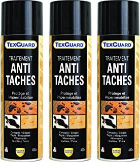 Guard Industrie - Traitement Antitaches TexGuard - Imperméabilisant Textile Hydrofuge, Incolore, Invisible - Tissu, Cuir, ...