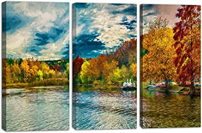 PAPER PLANE DESIGN 3pc_canvaspainting_77 Modern Wall Art Canvas Painting for Living Room (Set of 3 Panels, Size 18 in x 36 in)