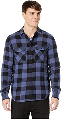 Long Sleeve Double Face Buffalo Check Shirt