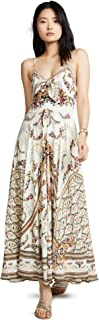 Camilla Women's Long Dress with Tie Front