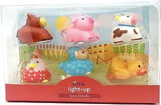 Rittle Farm Friends, Cute Floating Light-up Bath Toys (Set of 6)