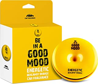Be in a Good Mood Car Fragrances | Essential Oils | Car Air Freshener with Easy-to-Use Air Vent Diffuser | Boost Your Mood & Eliminate Unpleasant Odors (Bergamot Orange)