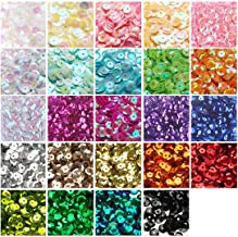 6mm Loose Sequins, 24 Colors 21000pcs Bulk Cup Sequins Metallic Paillettes and Spangles for DIY Embroidery Crafts Making S...