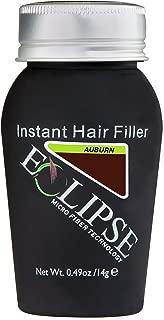Eclipse Hair Building Fibers & Beard Filler - Instant Hair Fillers Thinning Hair, Beard & Partial Hair Loss – Suitable for All Hair Types - Hair Loss Concealer for Men & Women - 15 Gram – Auburn