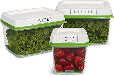 Rubbermaid FreshWorks Produce Saver Food Storage Containers, 3-Piece Set,(2108388)