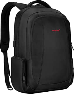 Laptop Backpack Tigernu Business Computer Backpacks Durable Water Resistant Slim Anti Theft Travel Bag with USB Charging For Men and Women 15.6 Inch (Black)
