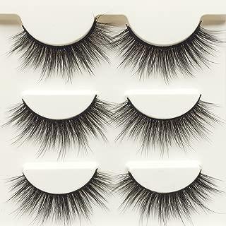 Wehous 3 Pairs Luxurious Super Long 3D Natural Cross Thick False Eyelashes Eye Lashes Makeup D76