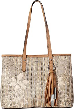 Maggie Raffia Novelty East/West Tote