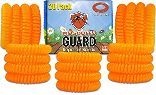 Mosquito Guard Kids Repellent Bands/Bracelets (20 Individually Packed Bands) Made with..