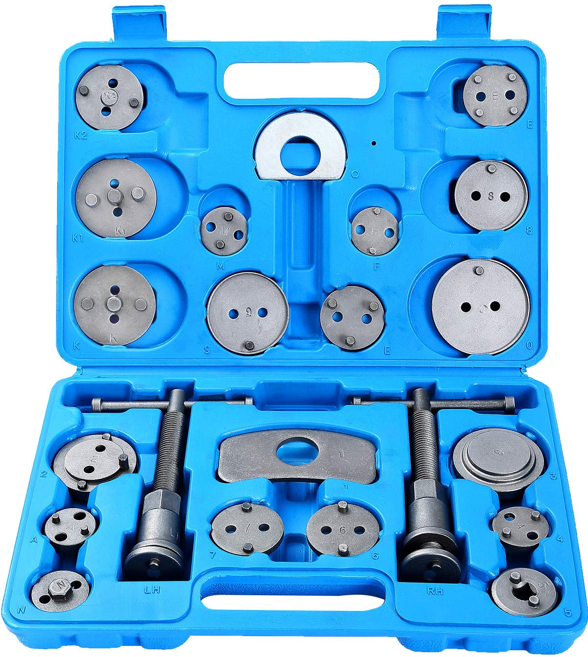 Japanese Makes//Models European ATP 23pcs Heavy Duty Disc Brake Caliper Tool Set and Wind Back Kit for Brake Pad Replacement Fits Most American
