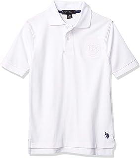 U.S. POLO ASSN. boys Short Sleeve Solid Polo Shirt Polo Shirt