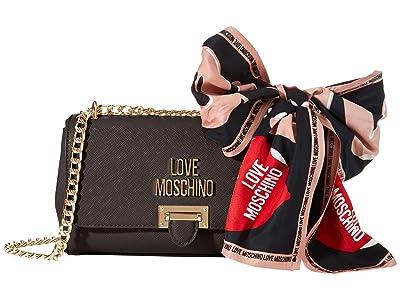 LOVE Moschino Scarf Crossbody (Black) Handbags