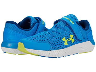 Under Armour Kids Charged Rogue 2 (Little Kid) (Electric Blue/Graphite Blue/Yellow Ray) Boys Shoes