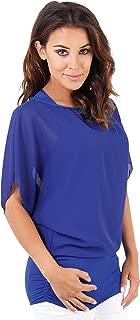 KRISP Women Oversized 2 in 1 Chiffon Blouse Batwing Jersey Tops