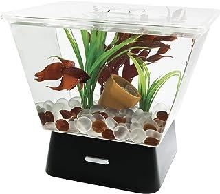 Tetra, Pecera para peces Betta, con LED, 1 gal