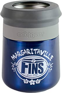 Cool Gear Margaritaville Stainless Steel Double Wall Coozie, Blue