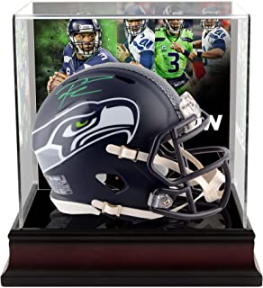 Russell Wilson Seattle Seahawks Autographed Riddell Speed Mini Helmet with Deluxe Mini Helmet Case - Fanatics Authentic Certified