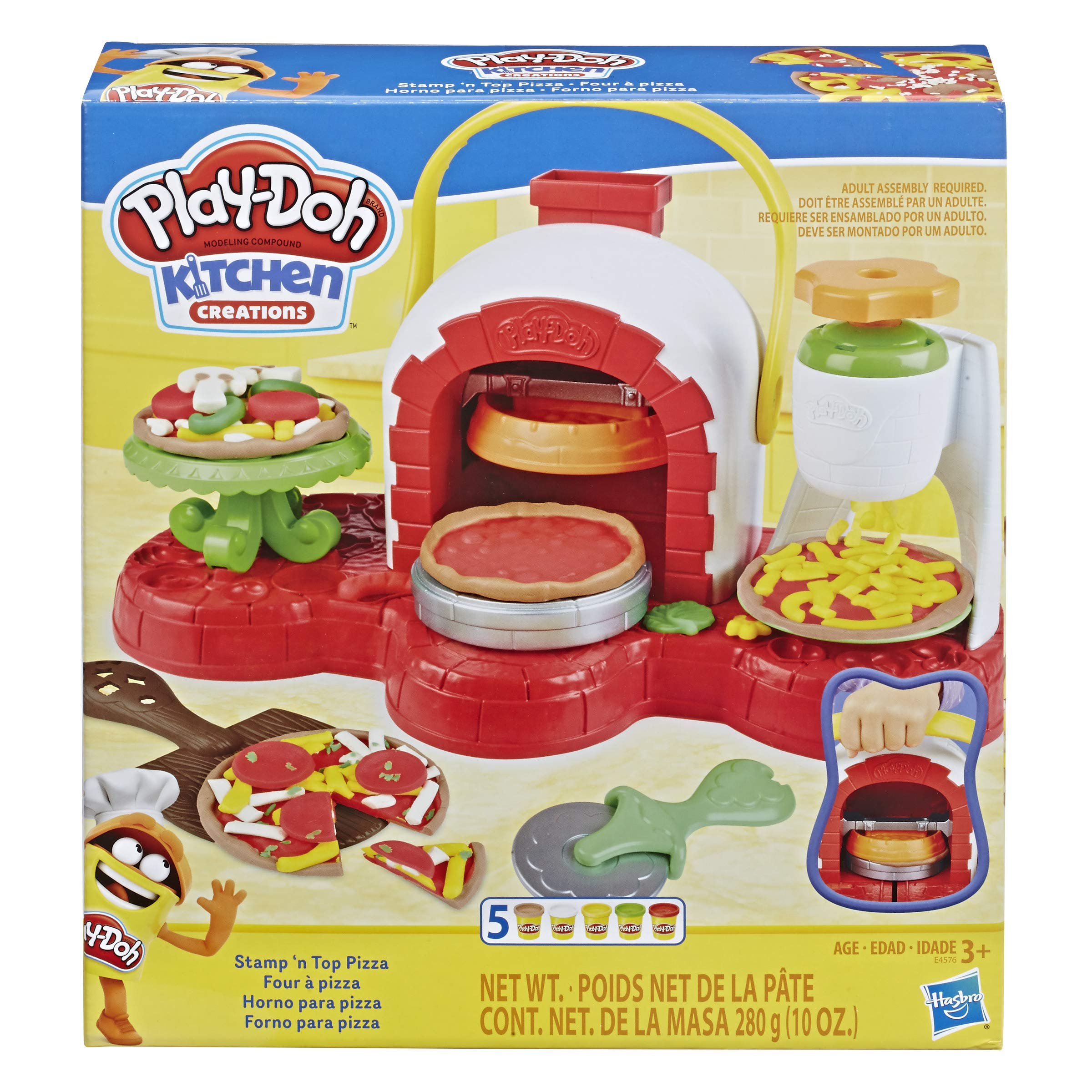 Play Doh Kitchen Creations Stamp N Top Pizza Oven Playset Inc 5 Tubs Of Dough Kids Creative Toys Ages 3 Amazon Com Au Toys Games