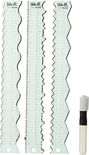 We R Memory Keepers 0633356600824 Rulers & Guides-Tear Guides (4 Piece)