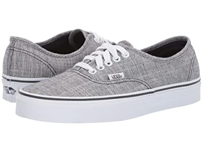 Vans Authentictm ((Chambray) Ebony/True White) Skate Shoes
