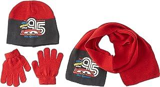 Disney CONJUNTO 3 PCS BUFANDA + GUANTES + GORRO CARS uniseks-kind 3-delige set sjaal + muts + handschoenen