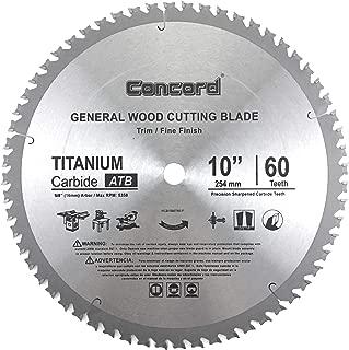 Concord Blades WCB1000T060HP 10-Inch 60 Teeth TCT General Purpose Hard & Soft Wood Saw Blade