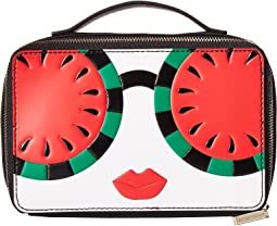 Ally Stace Face Watermelon Zip Cosmetic Case