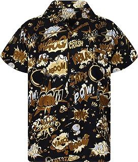 King Kameha Original Camisa Hawaiana | Caballeros | XS - 6XL | Manga Corta | Bolsillo Delantero | Estampado Hawaiano | Boo...