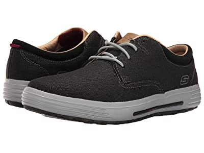 SKECHERS Classic Fit Porter Zevelo (Black Canvas) Men