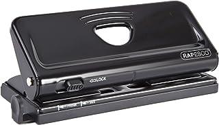 Rapesco 1342 Adjustable 6-Hole Organiser/ Diary Punch (Black)