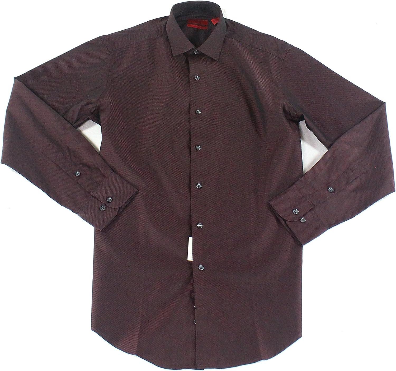 Alfani Mens Striped Button Up Dress Shirt