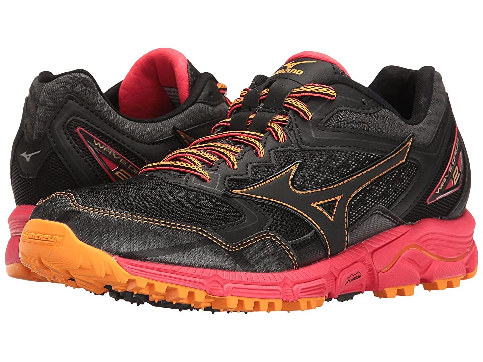 Mizuno Wave Daichi 2 (Black/Diva Pink/Orange Pop) Girls Shoes