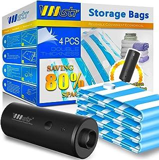 VMSTR Sac de Rangement sous Vide pour Pompe électrique, Sacs de Rangement pour Espace pour la Maison Machine à Vide électr...