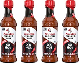 Nando's Extra Extra Hot PERi-PERi Sauce - Gluten Free - Sugar Free l 9.1 Oz (4 Pack)