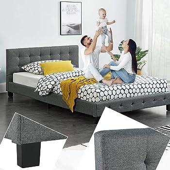Artlife Polsterbett Manresa 120 X 200 Cm Bett Mit Lattenrost Und Kopfteil Zeitloses Modernes Design Grau Amazon De Kuche Haushalt