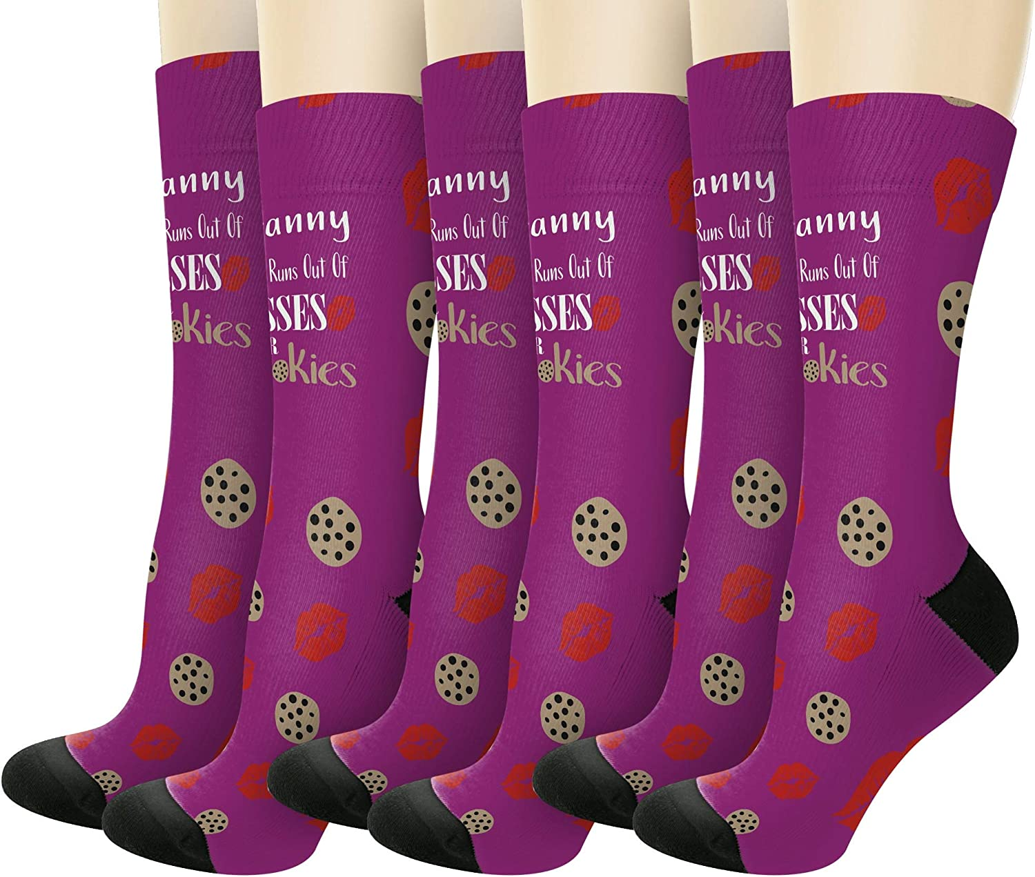 Granny Never Runs Out Of Kisses Or Cookies Novelty Crew Socks
