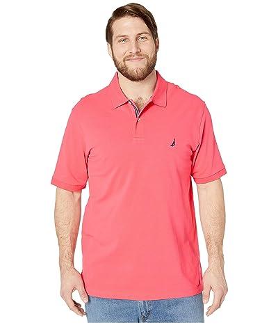 Nautica Big & Tall Big Tall Short Sleeve Solid Deck Shirt (Red) Men